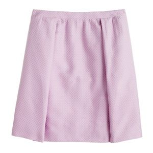 J. Crew Box-pleated Skirt in Circle Jacquard